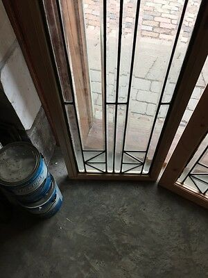 Sg 531 Pair Beautiful All Beveled Glass Sidelights 4