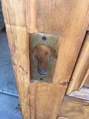 "Ar 139 1 Set Antique Raised Panel Pine Pocket Doors 70"" X 106"" 12"