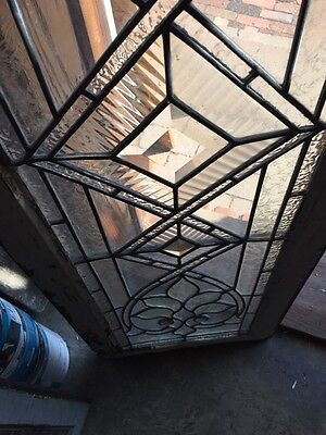 Sg 574 Antique Transom Window Beveled Glass Textured And Jewels