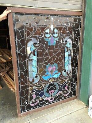 A.M. Six Antique Stainglass Landing Window Victorian 12