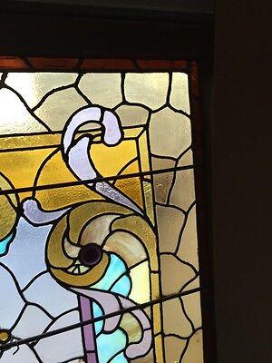 A.M. Six Antique Stainglass Landing Window Victorian 4