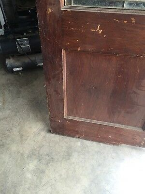 D202 Antique Swing Door With Textured Glass 29 Inch 79 Inch 11