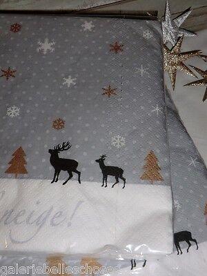 3 Von 4 Avantgarde Lunch Servietten Winter Schnee Hirsch Reh Weihnacht  Sterne Feier Fest