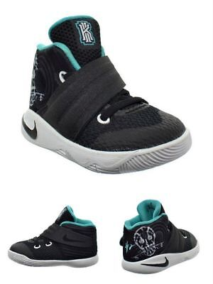 official photos 46f32 8c9fd NIKE KYRIE 2 TD Toddler Kids Basketball Shoes Black/Jade/White 827281-001  Skulls
