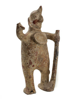 Large Pre-Columbian Pottery COLIMA  Standing male figure with staff 2