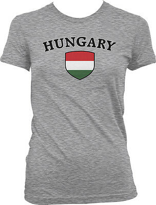 Hungary Flag Crest Hungarian National Country Pride Retro Sport T-shirt