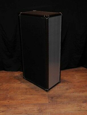 Industrial Leather Chrome Chest Drawers Tall Boy Luggage Furniture 4