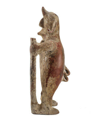 Large Pre-Columbian Pottery COLIMA  Standing male figure with staff 3