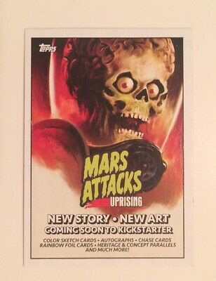 NYCC 2019 Topps Mars Attacks Uprising P1 Promo Trading Card Collectible Pair 2