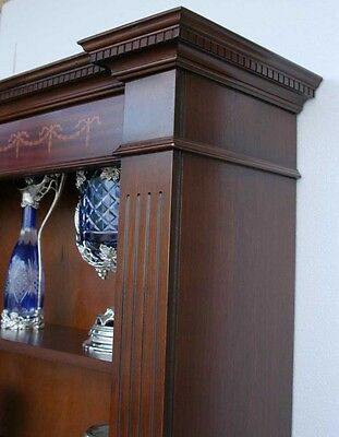 Classic Regency Sheraton Inlay Open Bookcases Book Case 12