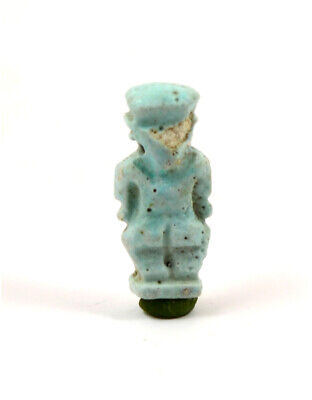 Egypt a blue-green glazed faience amulet of the dwarf Pataichos 2