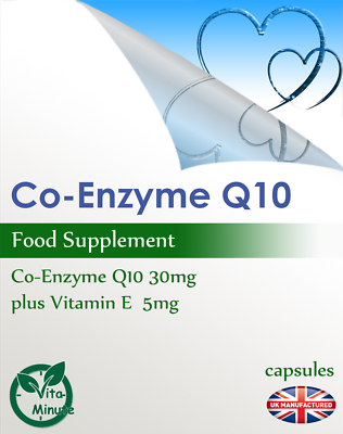 Strong Co-Enzyme Q10 30mg & Vitamin E Complex | 30/60/90/120/180 Capsules | UK 4