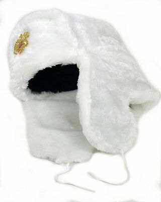 da8b901bb8a ... Authentic Russian Military KGB Ushanka Hat W  Imperial Eagle Badge  Included 10