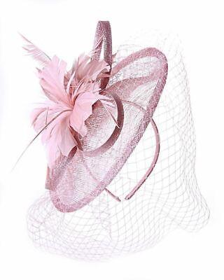 New Large Headband Aliceband Hat Fascinator Wedding Ladies Day Races Royal Ascot 3