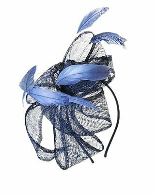 Flower Feather Fascinator Aliceband Hat Ladies Hair band Formal Race Royal Ascot 2