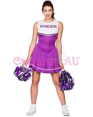 Ladies Cheerleader Costume School Girl Outfits Fancy Dress Cheer Leader Uniform 7