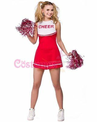 Ladies Cheerleader Costume School Girl Outfits Fancy Dress Cheer Leader Uniform 2