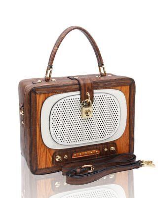 New Women's Hard Case Vintage 3D Radio/Wardrobe Hand Bag Novelty Bag Jewelry Box 2