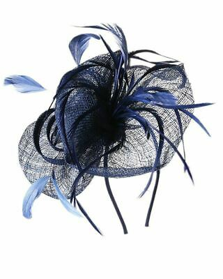 Flower Feather Fascinator Aliceband Hat Ladies Hair band Formal Race Royal Ascot 6
