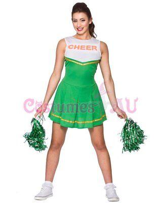 Ladies Cheerleader Costume School Girl Outfits Fancy Dress Cheer Leader Uniform 5