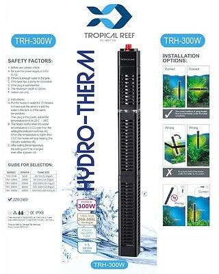 Hydro-Therm 300W Heater Stat Aquarium Fish Pond Tank Temp Submersible Guard 3