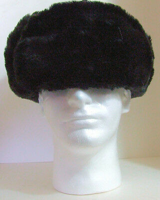 19f106dbab571 ... Authentic Russian Military Faux Fur Black Ushanka Hat Made in Russia 5