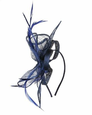 Flower Feather Fascinator Aliceband Hat Ladies Hair band Formal Race Royal Ascot 3