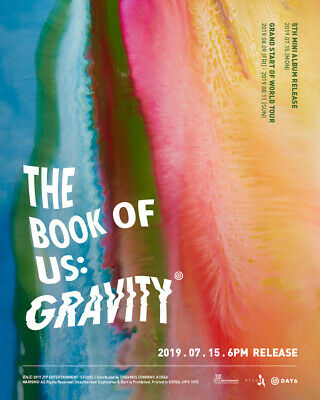 Day6[The Book Of Us:Gravity]5th Mini Album CD+Poster+Book+Card+etc+PreOrder+Gift 8
