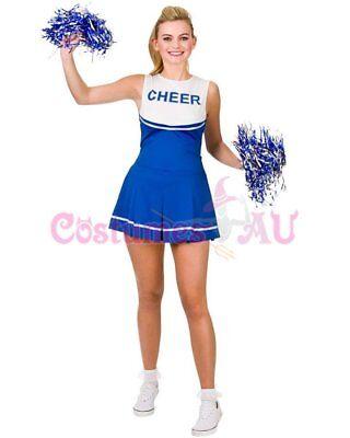 Ladies Cheerleader Costume School Girl Outfits Fancy Dress Cheer Leader Uniform 4