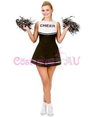 Ladies Cheerleader Costume School Girl Outfits Fancy Dress Cheer Leader Uniform 3