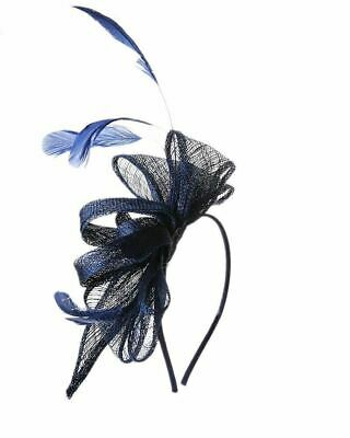 Flower Feather Fascinator Aliceband Hat Ladies Hair band Formal Race Royal Ascot 4