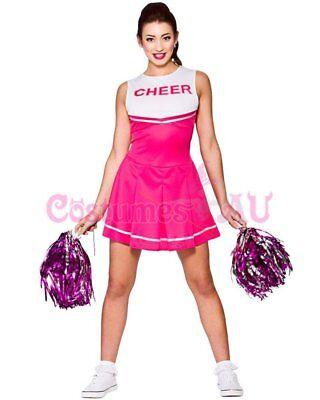Ladies Cheerleader Costume School Girl Outfits Fancy Dress Cheer Leader Uniform 6