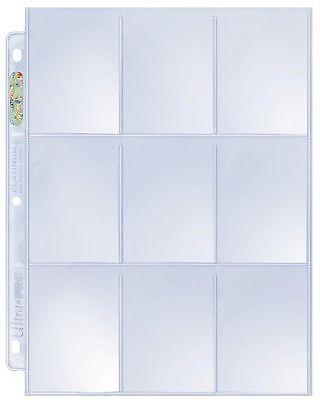 30 x ULTRA PRO PLATINUM 9 POCKET POKEMON AFL TRADING CARDS ALBUM SLEEVES PAGES 3