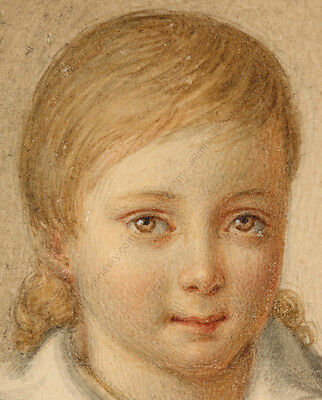 """""""Portrait of a little girl"""" French miniature from a famous collection, 1820/30s 3"""