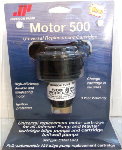 Johnson Pump 28552 Motor Cartridge 500GPH for Bilge Pump 32503 Boat Marine MD