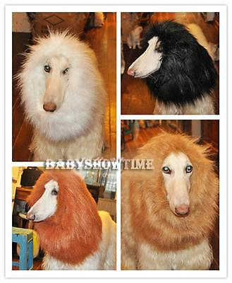 Pet Costume Lion Mane Wig Hair for Large Dog Halloween Clothes Fancy Dress up BΚ 7