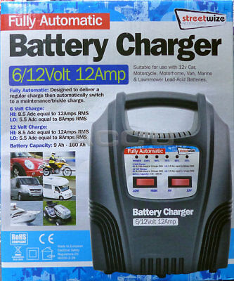 SW 12v 3.8A Car Van Motorcycle Boat Intelligent Fully Automatic Battery Charger