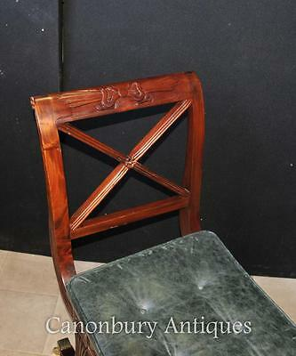 Pair Regency Stools Seats in Mahogany Day Chair 6