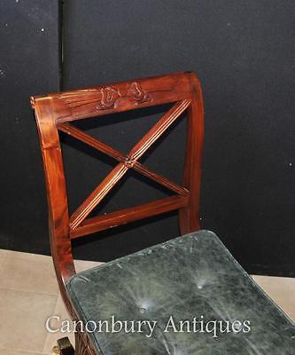 Pair Regency Stools Seats in Mahogany Day Chair 6