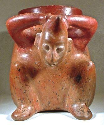 Pre-Columbian Huge Colima Figural Urn Ex: Sotheby's 1978