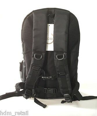LARGE DSLR SLR Camera Backpack Rucksack Bag Case+RainCover For Nikon Sony Canon 6