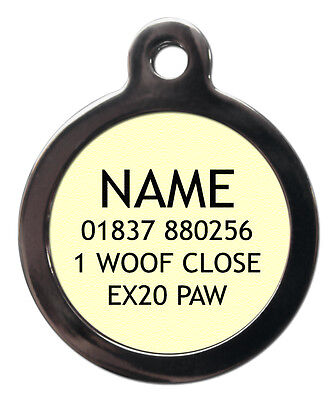 Dog Cat Pet Tag ID Collar Tags Personalised Initial Letter Name Small/Large Tags 2