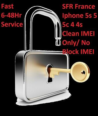 SFR FRANCE Unlock Code Apple iPhone X 8 7 6 5 4S 4G Only Clean & Activated IMEI 2