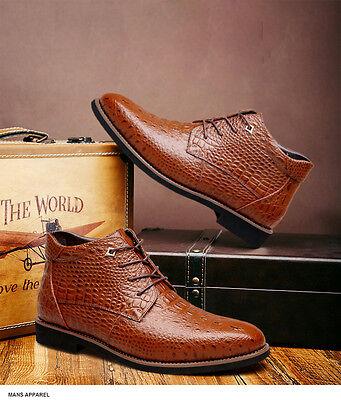 7826eb2dae665d ... Boots Hiver Mode Homme Chaussure Cuir Montante à Lacets Bottines  Peluche Longue 11