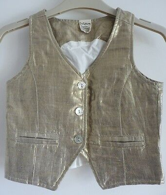 Immaculate Jottum Festive Collection Gold Waistcoat, Stunning! 5-6 yrs (110/116) 2