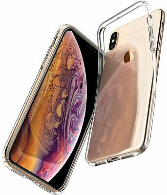 iPhone XS Max XR X Case Genuine SPIGEN Liquid Crystal SLIM CLEAR Cover for Apple 9