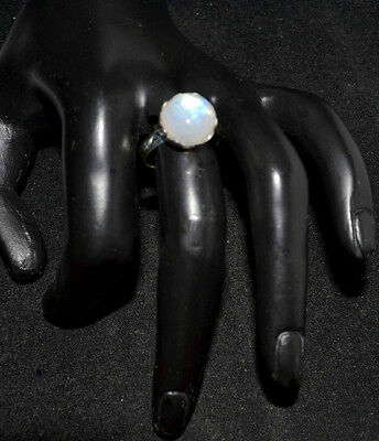 Mystic Moonstone Natural Gemstone Rings 925 Sterling Silver Ring All Sizes L - Z 4