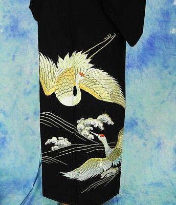 High-Quality   Japanese kimono   KURO-TOMESODE 160cm(62.9inch) 5