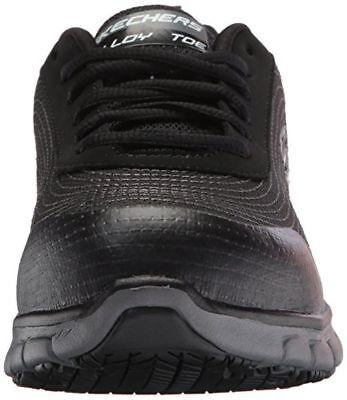 77203 Skechers For Work Women's Synergy Alloy Toe Work Shoe Black 2