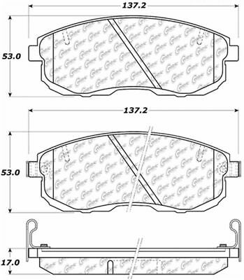 D471 FITS VEHICLES LISTED ON CHART BRAND NEW SEI REAR BRAKE PADS 100.04710